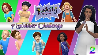 The Sims 4: 7 Rugrats Challenge EP. 2 - Bath & Potty Disasters