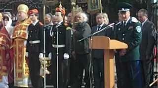 Атаман ОВКО генерал В.И.Романов на празднике в Кургане.