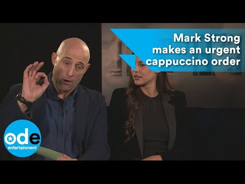 DEEP STATE: Mark Strong makes an urgent cappuccino order