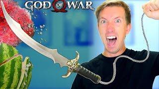 God of War WEAPONS in REAL LIFE ⚔ 5 GOW Gadgets vs Fruit Ninja