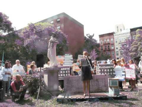 Jeanine Elizabeth Street Garden Press Conference