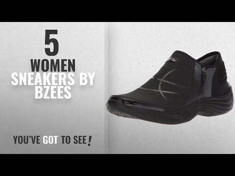 Featured Bzees Women Sneakers [2018]: Bzees Women's Trilogy Sneaker, Black, 10 M US