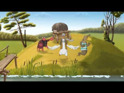 Мультфильм про лебедь рак и щука