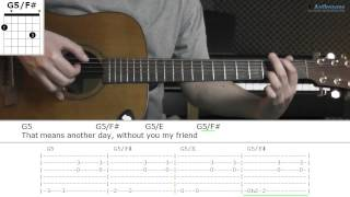 How to play Walk Away with Ben Harper (Guitar lesson)