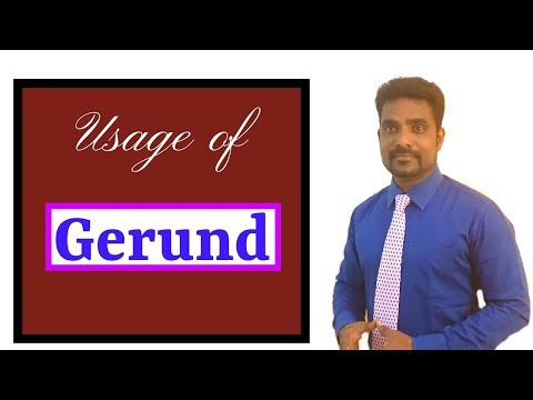 USAGE OF GERUND | HOW TO SPEAK ENGLISH FLUENTLY THROUGH TAMIL | LEARN ENGLISH IN TAMIL