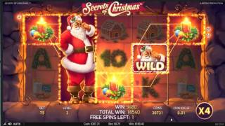 NetEnt - Secrets Of Christmas - Super Mega Win