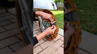 눈길안전 오토바이 스노우 타이어 체인 (구매좌표는 고정…