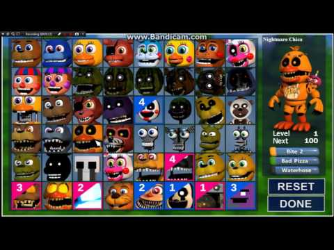 Five Nights at Freddy's WORLD | All characters!! (Including Update 2)