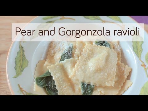 Homemade Ravioli Recipe – Pear and Gorgonzola Ravioli