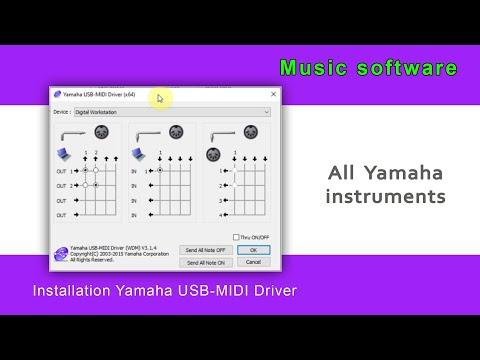 Yamaha USB-MIDI Driver - Installing To Computer (windows 10)