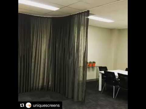Motorised Curtains - Somfy x Unique Screens