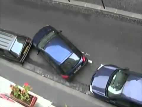 INCREDIBLE French girl parking a car