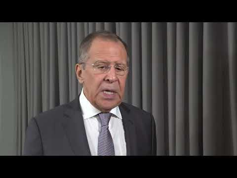 Выход к прессе С.Лаврова по итогам СМИД, СМО и КССБ ОДКБ, Бишкек, 27 ноября 2019 года