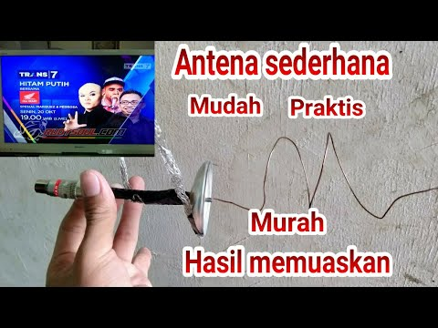 Cara Membuat Antena TV Dari Barang Bekas