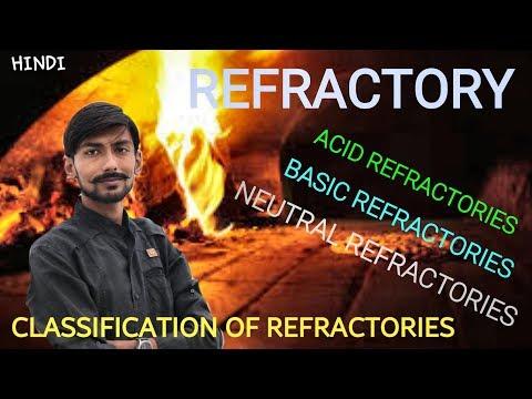 [HINDI] REFRACTORY ~ CLASSIFICATION OF REFRACTORIES ~ ACID , BASIC & NEUTRAL REFRACTORIES