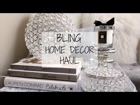 home decor haul - glam & bling -christymel - youtube