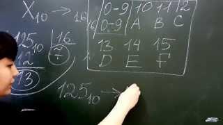 Перевод чисел из десятичной в шестнадцатеричную систему счисления. Лекция по информатике №3