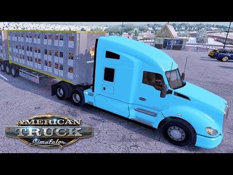 American Truck Simulator (Hard Economy) #38 - CHICKEN ROAD TRAIN | Saturday Week 5