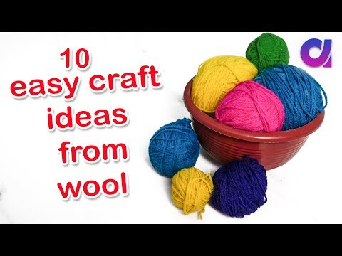 10 Easy wool craft ideas from best out of waste | Artkala