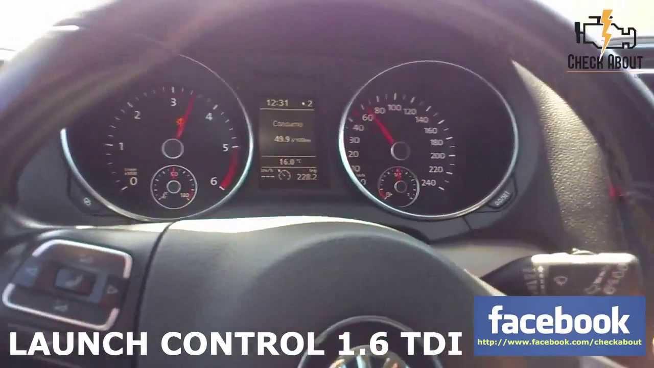 VW Golf 1.6 TDI 168hp 360nm - Launch Control @ 3000rpm - YouTube