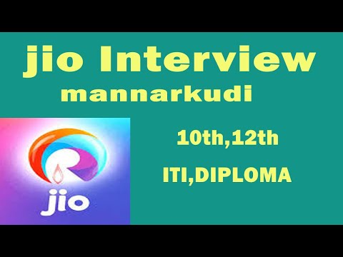 JIO INTERVIEW - 10th,12th,ITI,Diploma -  Fresher Interview -  Mannarkudi