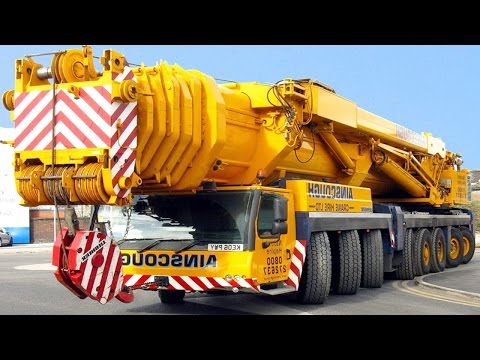 Extreme Mobile Cranes in Action  Liebherr and Palfinger Truck Cranes 2017
