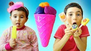 Celina And Hasouna PayDoh Ice cream - سيلينا والمعجون للاطفال
