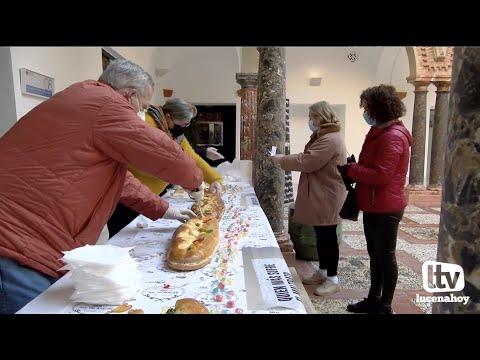 Comienza a distribuirse el Roscón de Reyes Gigante de Lucena, esta año adaptado a la pandemia