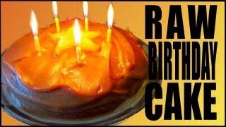 Raw Vegan Birthday Cake Recipe (with Caramel Frosting)