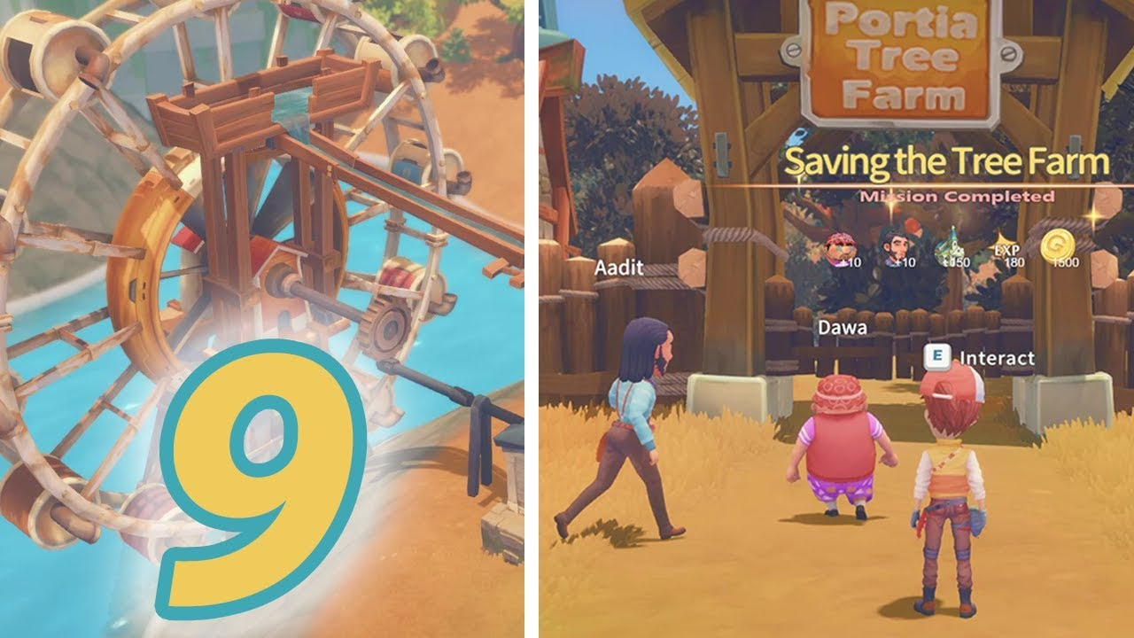 Saving Tree Farm Mission Let S Play My Time At Portia Part 9 Youtube