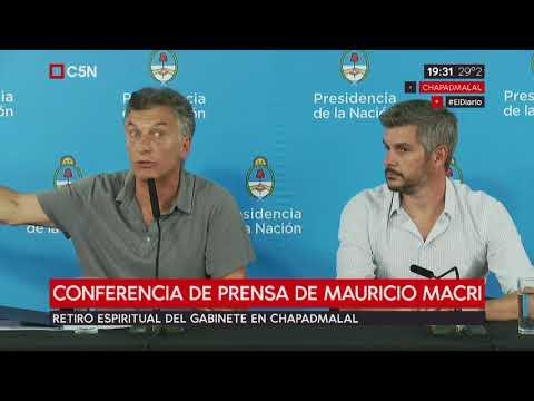 Conferencia de prensa de Mauricio Macri y Marcos Peña en Chapadmalal
