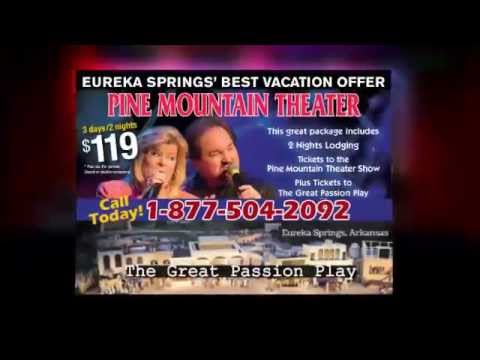 Eureka Springs Vacation - Great Passion Play, Pine Mtn Theatre and Lodging