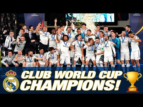 Real Madrid, CLUB WORLD CUP CHAMPIONS 2018! Trophy lift & Pitch celebrations