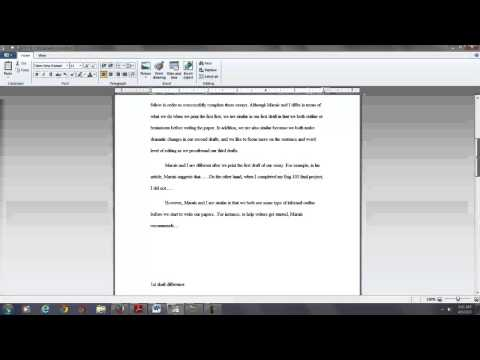 How to Write a Compare and Contrast Essay: A live demo with an actual student paper