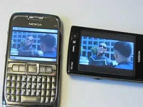 Nokia E71 vs Nokia N95 8GB Video Playback