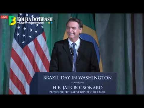 PRONUNCIAMENTO DO PRESIDENTE BOLSONARO NO BRAZIL DAY IN WASHINGTON. - 18.03.19