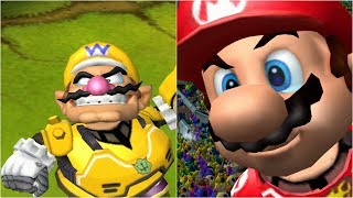 Mario Strikers Charged - Wario vs Mario - Wii Gameplay (4K60fps)