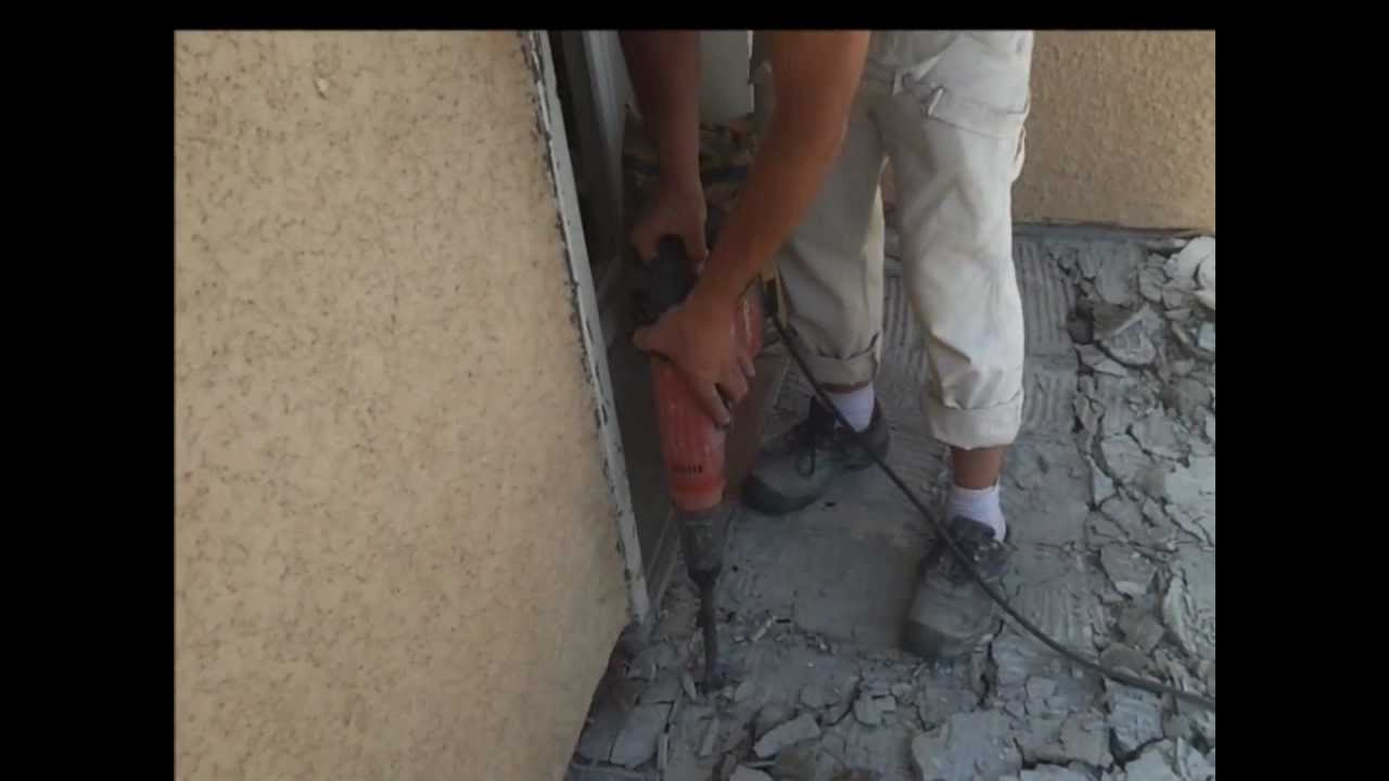 Démolir Une Terrasse En Béton Armé  Demolition Dalle Beton