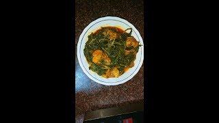 Kashmiri saag with chicken recipegreen collard and chickenby kashmiri food channel