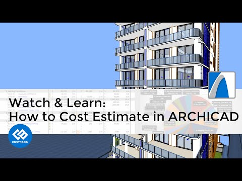 Amazing ARCHICAD Project Loaded for Cost Estimating