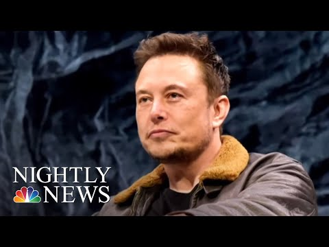 Tesla Stock Drops After CEO Elon Musk Takes Hit Of Weed In Live Interview | NBC Nightly News