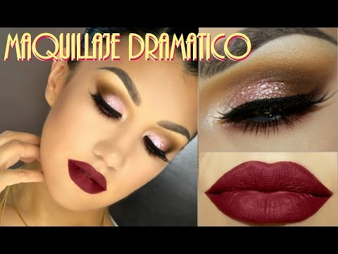 Look Dramatico Labios Rojos / Dramatic Makeup Red Lips  - @auroramakeup