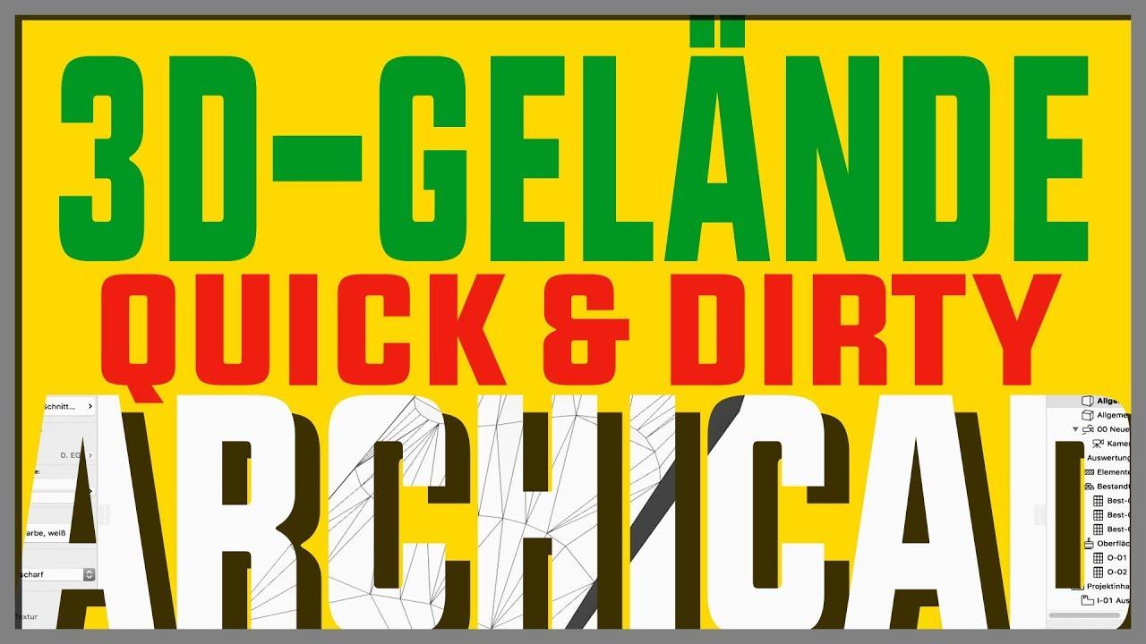 ArchiCad: 3D Gelände Quick U0026 Dirty