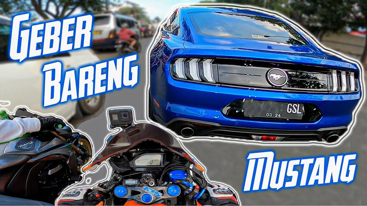 muscle car Barbar!! Geber Bareng Mustang - Suaranya Gahar Parah   CBR1000 GSX1000 Z1000
