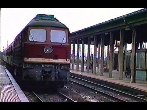 Deutsche Reichsbahn 1990 - Alltag in Nordhausen BR 132 (Ludmilla) - Köf 1/ DR Eisenbahn