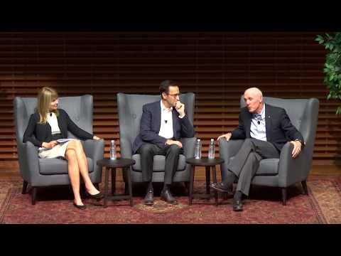 GSB Dean Jon Levin and Dean Emeritus Robert Joss in Conversation