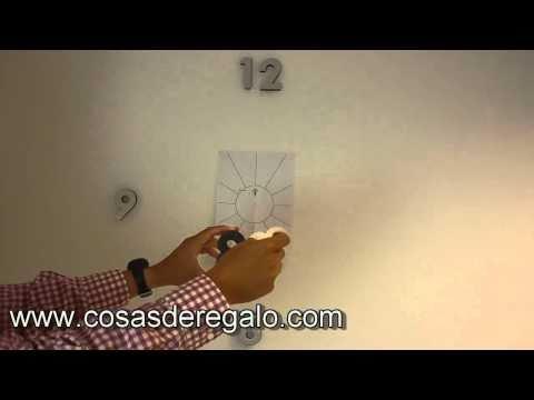 Demo montaje reloj de pared n meros adhesivos eva y - Relojes rusticos de pared ...