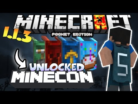 MINECRAFT PE 1.2 UNLOCKED CAPES - HOW TO UNLOCK MINECON CAPES IN MCPE 1.2. - USING FREE CODE