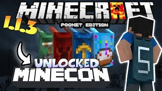 MINECRAFT PE 1.1.3 UNLOCKED CAPES - HOW TO UNLOCK MINECON CAPES IN MCPE 1.1.3 - USING FREE CODE