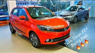 Tata Tiago 2019 XZ plus top model Berry Red detailed review | Features | Projector Headlights